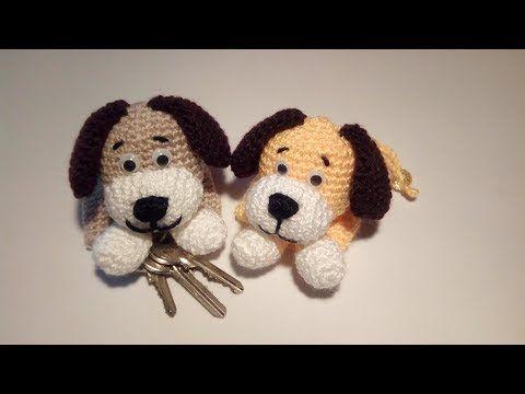 Cagnolino Portachiavi Amigurumi Tutorial - Key Cover Crochet - Llavero Crochet - YouTube #amigurumitutorial
