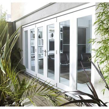 Image Of Nuvu White Folding Doors Fully Decorated External French Doors Exterior Doors Patio Doors