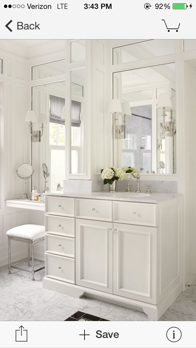 Oooh i like the singular sink with the make up table - The singular bathroom ...