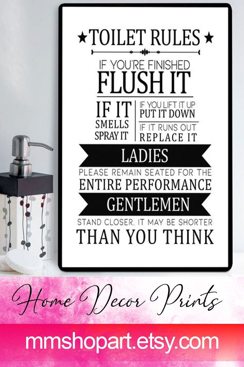 Toilet Bathroom Sign Toilet Door Sign Toilet Rules Sign Bathroom Rules Bathroom Sign Funny Toilet Sign Bathroom Signs Kids Bathroom Sign Toilet Door Sign
