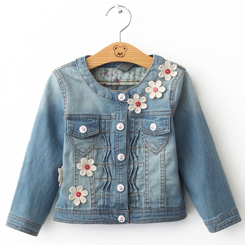 dace792e3537 Aliexpress.com   Buy Denim jacket Girl Spring   Autumn Long Sleeve ...