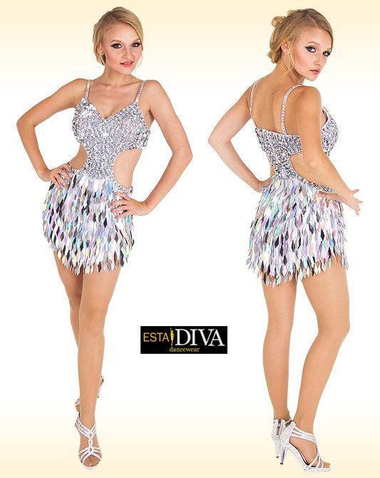 ff9d4671 Latin Sequin Dress Macla Brillar Latin Dress Latin by EstaDiva ...