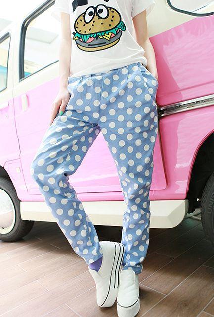Spodnie Alladynki Haremki Obnizony Krok Kropki 3307529524 Oficjalne Archiwum Allegro Moda Fashion Legging Fashion