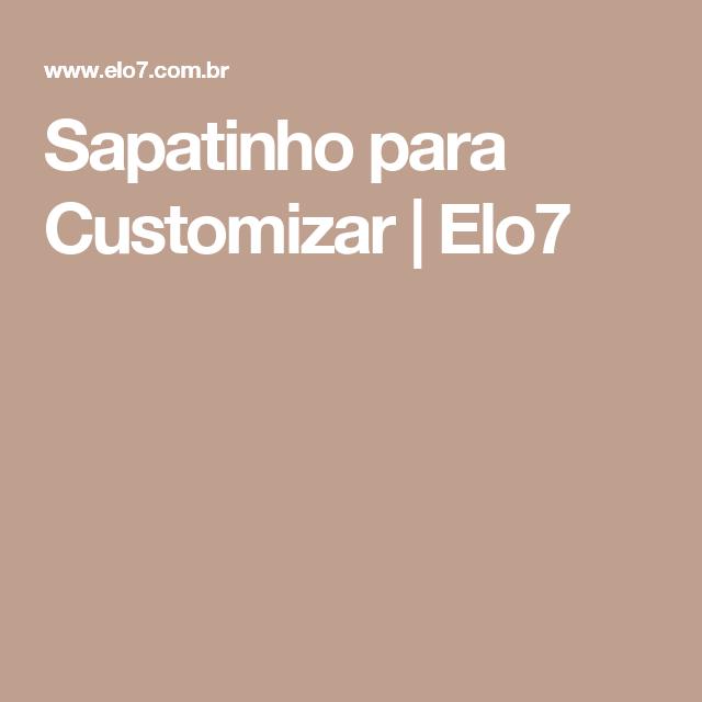 Sapatinho para Customizar | Elo7