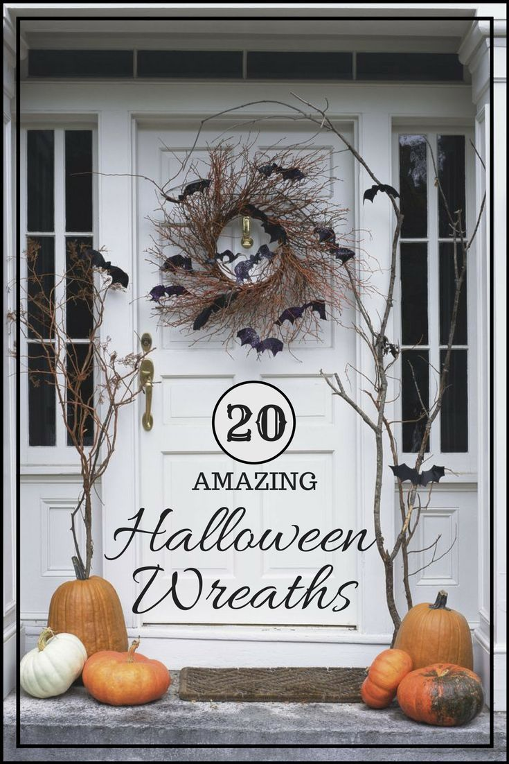 Most Beautiful Halloween Wreaths Scary halloween wreath, Front - Front Door Halloween Decorations