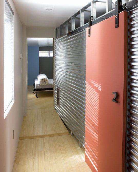 63 Awesome Sliding Barn Door Ideas Interior Barn Door Designs Corrugated Metal Wall Barn Door Designs