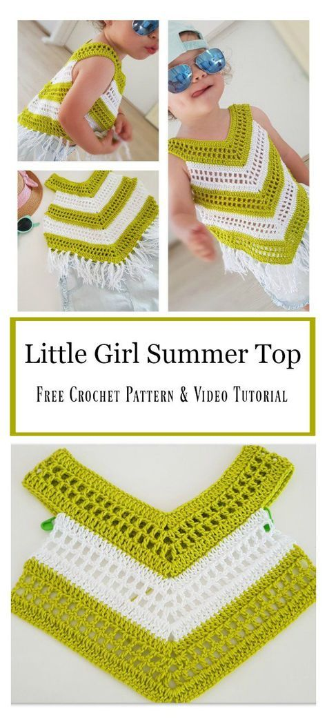 Little Girl Summer Top Free Crochet Pattern and Video Tutorial