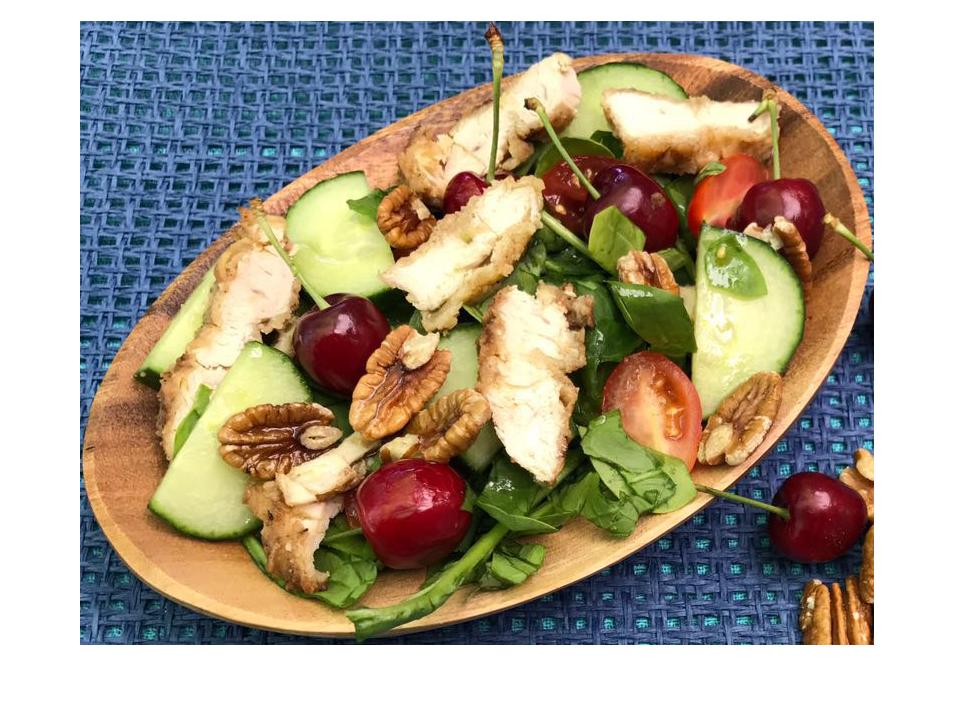 Cherry Chicken Pecan Salad