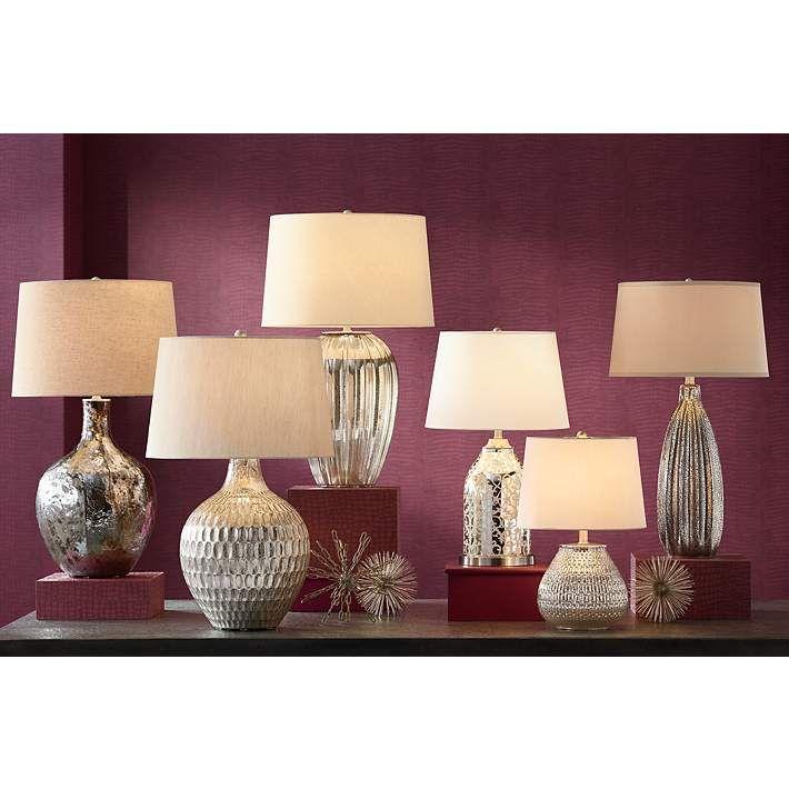 Zax Mercury Glass Table Lamp - #4T743 | Lamps Plus (mit ...