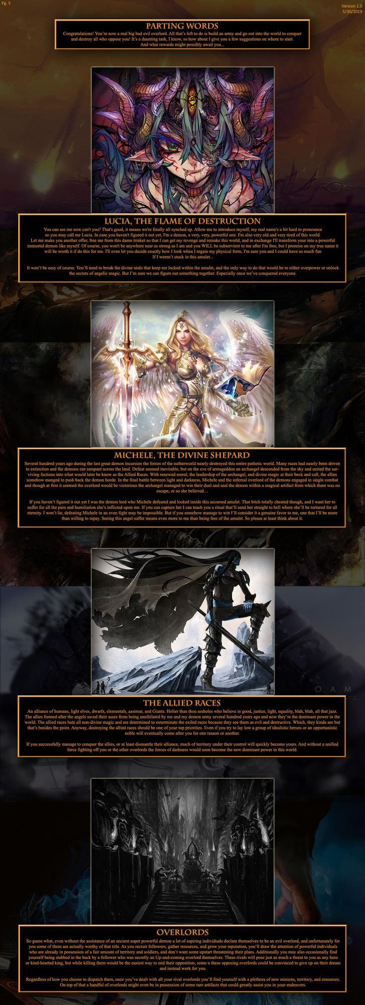 Big Evil Magical Overlord (/tg/) Cyoa, Cyoa games
