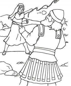David And Goliath Coloring Pages David Goliath Coloring Page