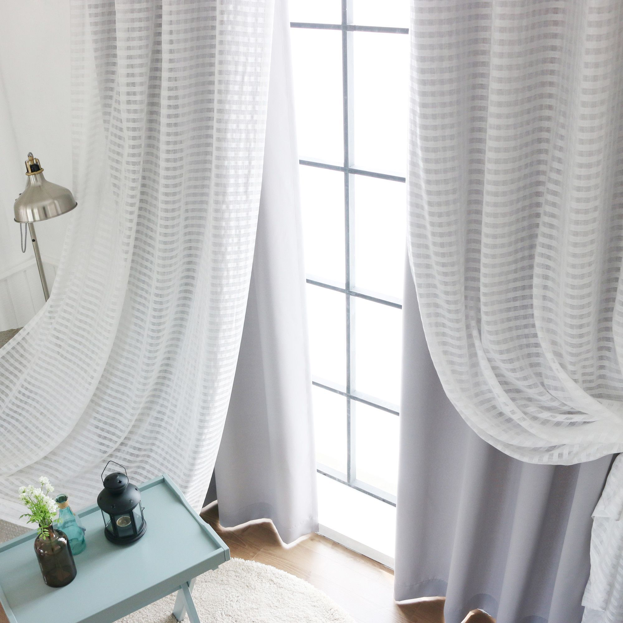 Coco 6 Piece Sheer And Solid Blackout Curtain Set Curtains Cool