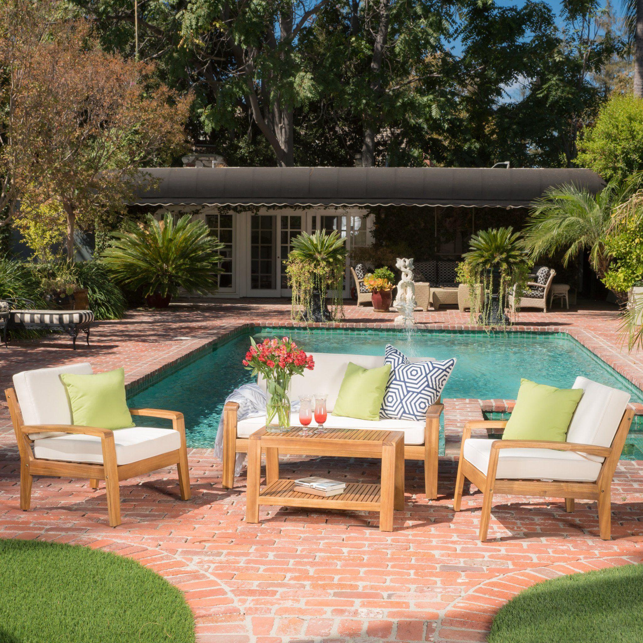 Best Parma 4Pc Outdoor Sofa Set W Cushions Outdoor Sofa Sets 400 x 300