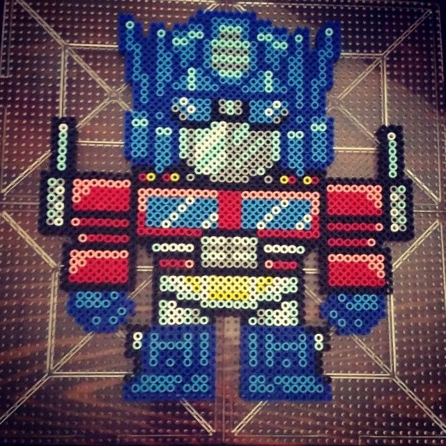 Optimus Prime Transformers Perler Beads By Dazer24 Perler