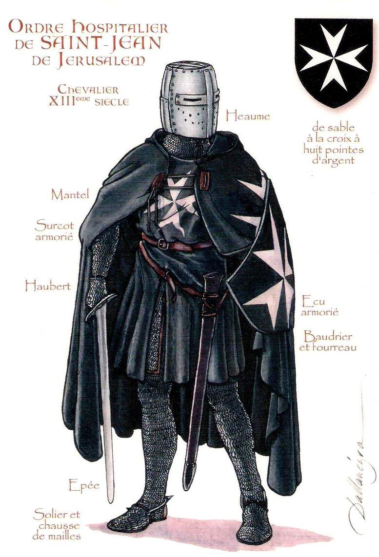 Ordre Hospitalier De Saint Jean De Jerusalem Chevalier Xiii Eme Siecle Des Moines Soignaient Les Chevaliers Hospitaliers Chevalier Medieval Armes Medievales