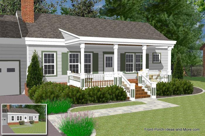 Ranch Additions Before And After Found On Front Porch Ideas And