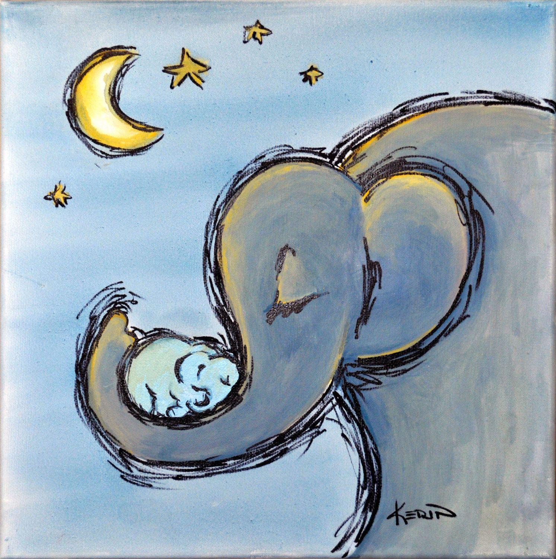 Best 12 X 12 Original Canvas Acrylic Painting Elephant By 640 x 480