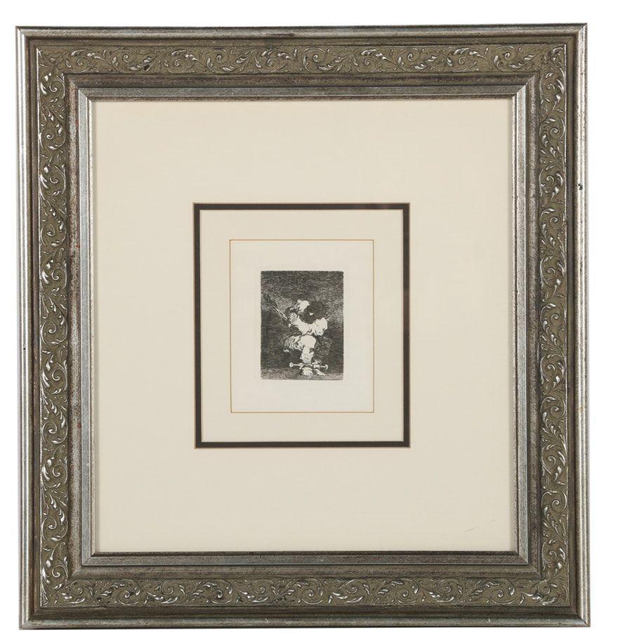 """Francisco de Goya Etching on Paper """"Little Prisioner"""""""