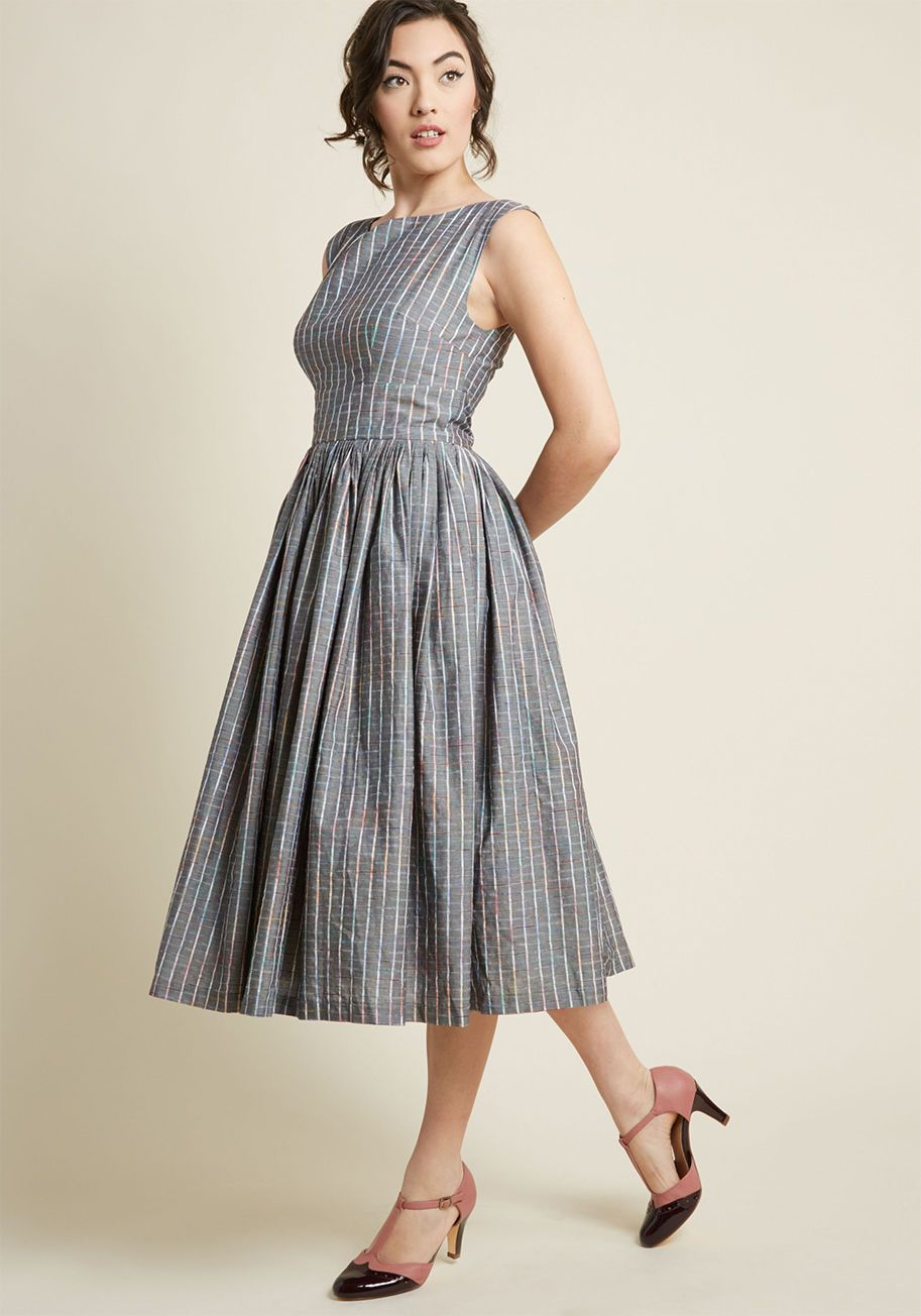 X Dupenny Fabulous Fit And Flare Dress With Pockets Flare Dress Casual Flare Dress Fit And Flare