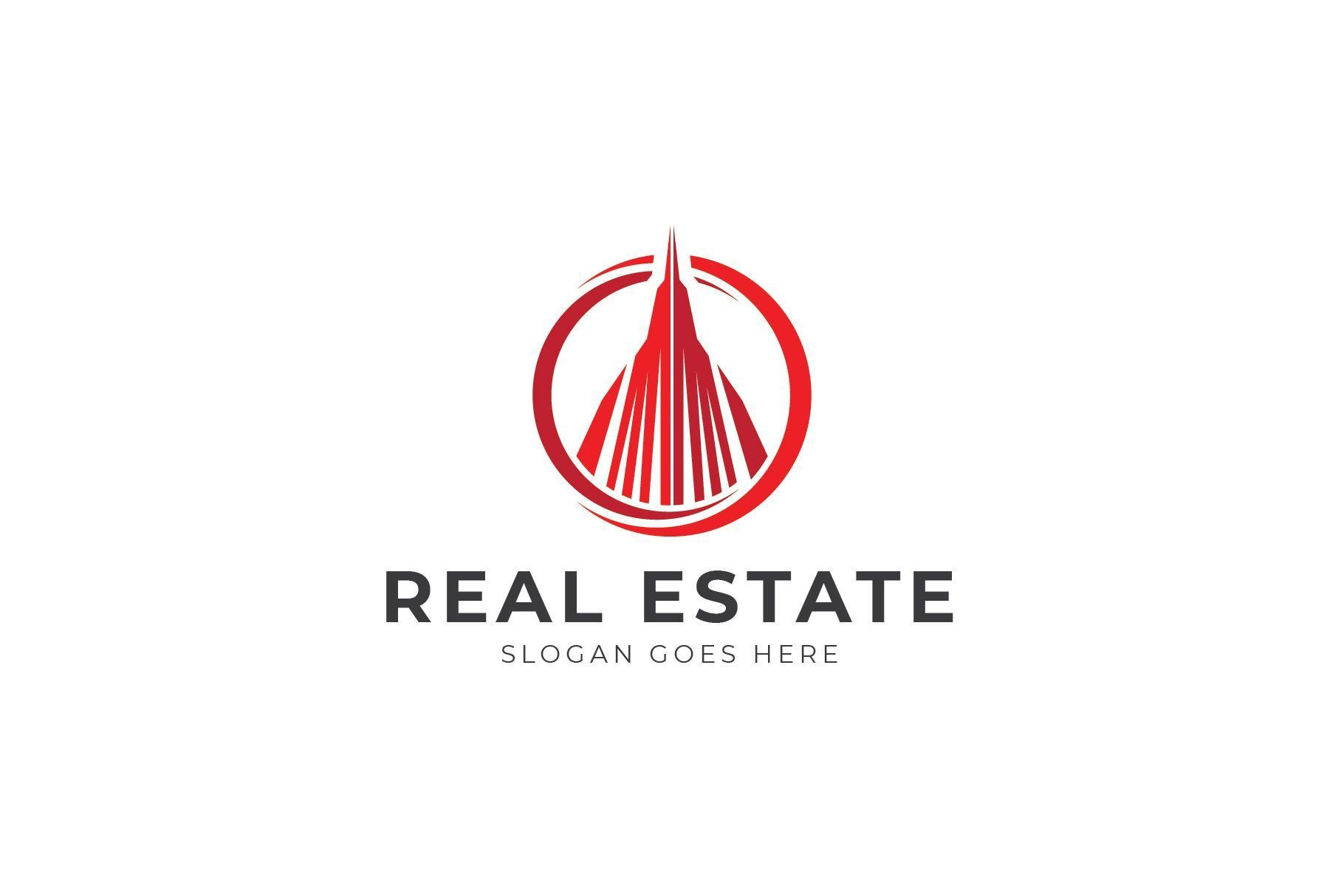 Building Real Estate Colored abstract branding