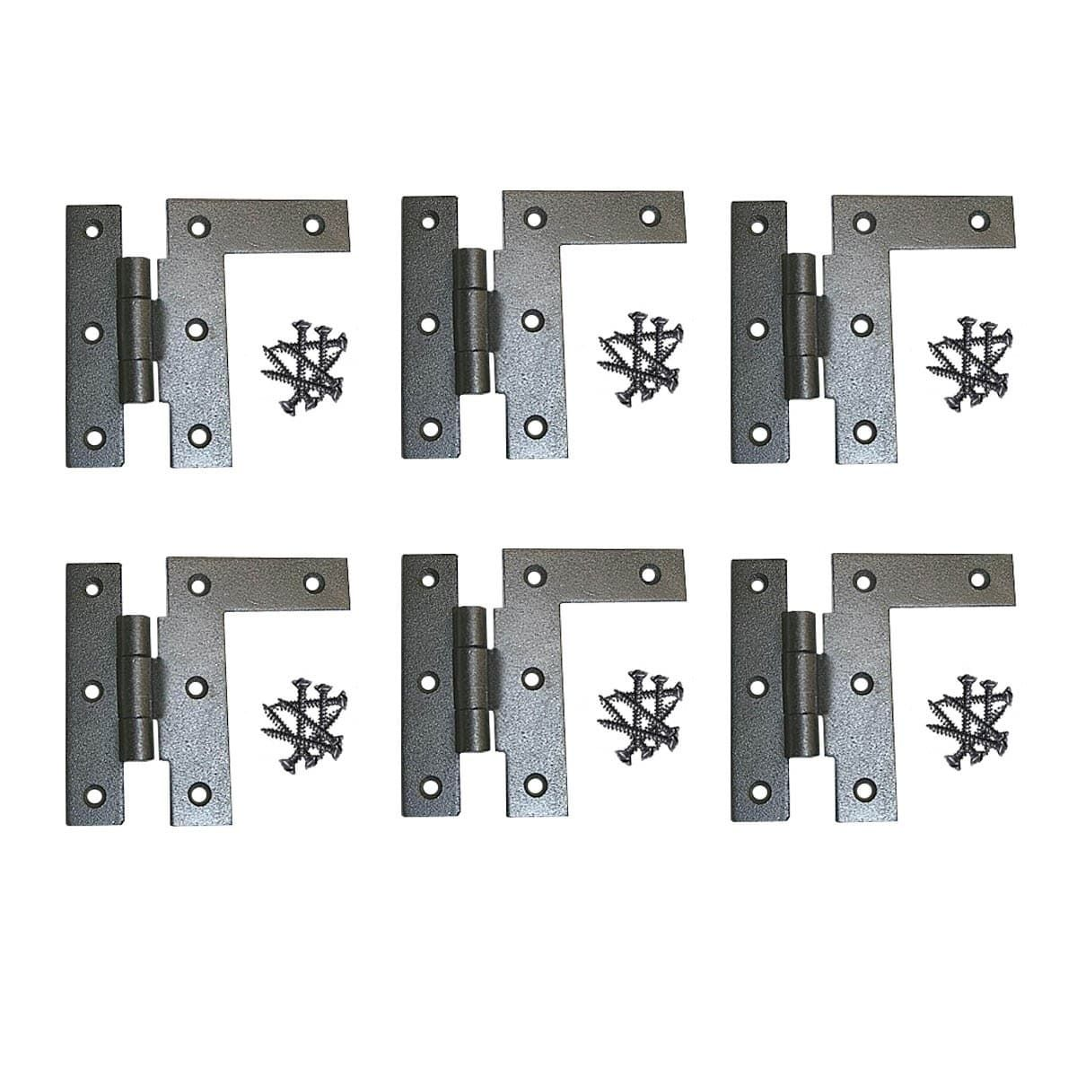 6 Cabinet Hinges Wrought Iron HL Right Only 3.5H W/ Offset (Renovatoru0027s  Supply
