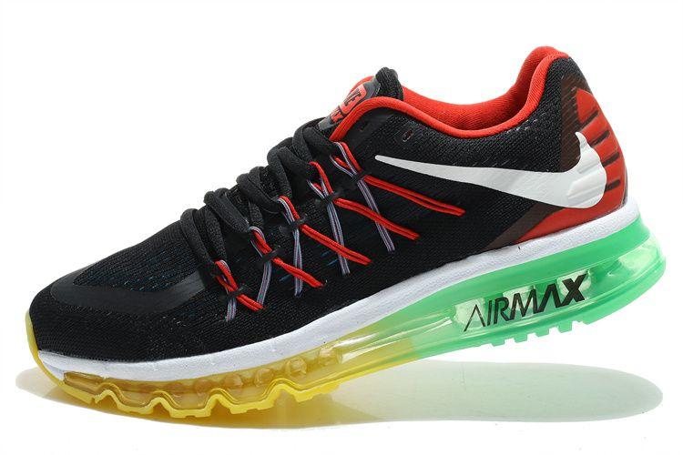 official photos 7be70 2f577 ... aliexpress womens running shoes nike air max 2015 mens rainbow triple  black apple green lemon yellow