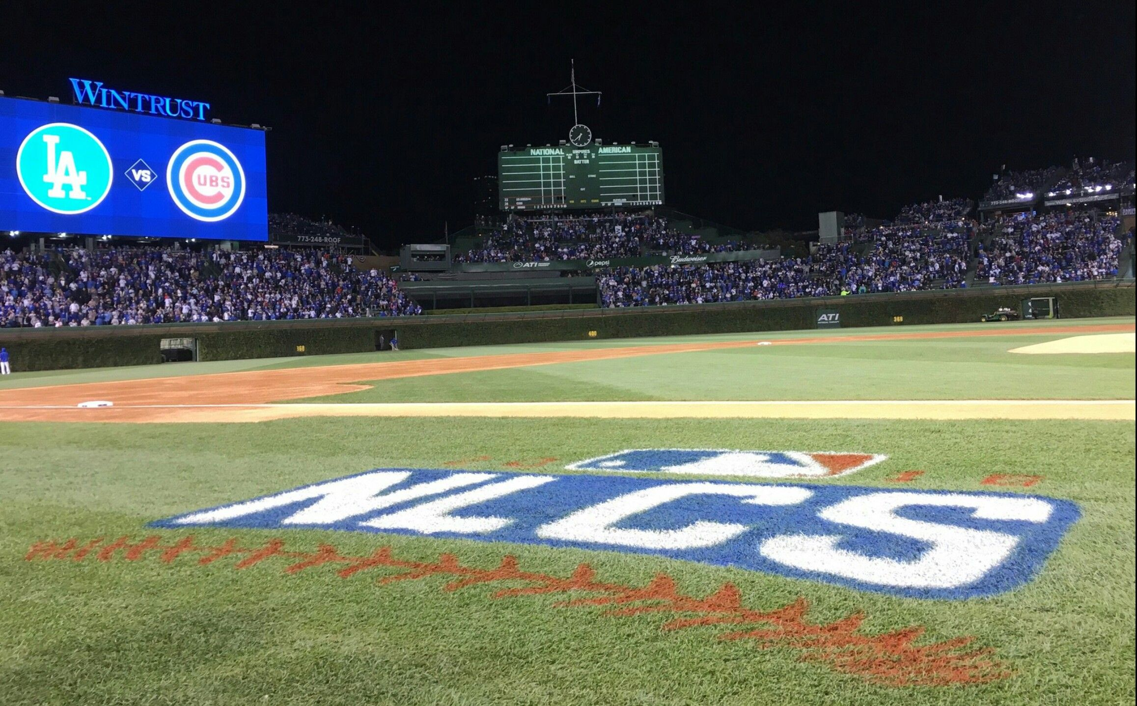 ✊💀✊ Chicago Cubs October 22nd 2016 National League Champions - 17th Franchise Pennant - Next: WORLD SERIES - Chicago Cubs Defeating the Los Angeles Dodgers 5-0 in Game 6 of the 2016 NLCS!!