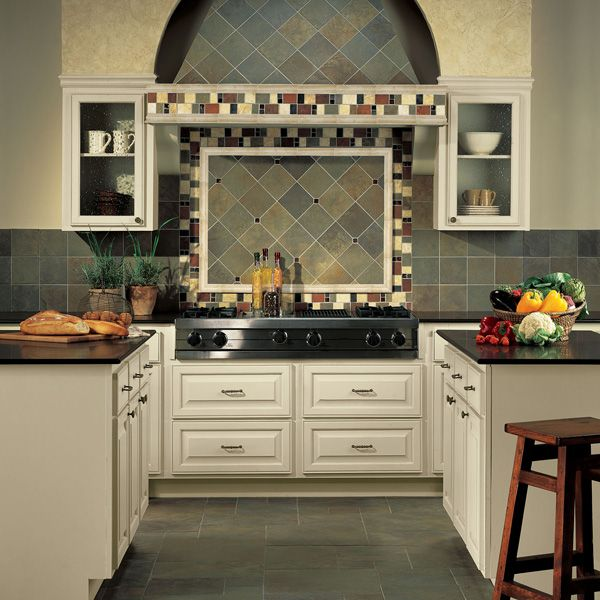 Daltile 2 X 6 Chair Rail Part - 41: Daltile Kitchen Featuring Continental Slate Brazilian Green 18 X 18 , 12 X  12 X 12 , 6 X 6 Field Tile With 4 X 12 Border And Fashion Accents Antique  Pewter ...