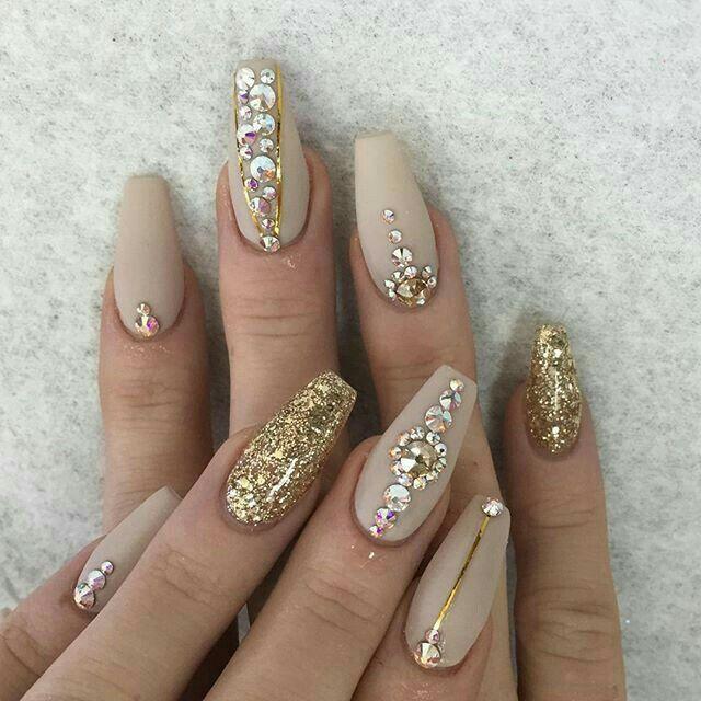Prom Nails Rhinestone Nails Nail Art Rhinestones Prom Nails