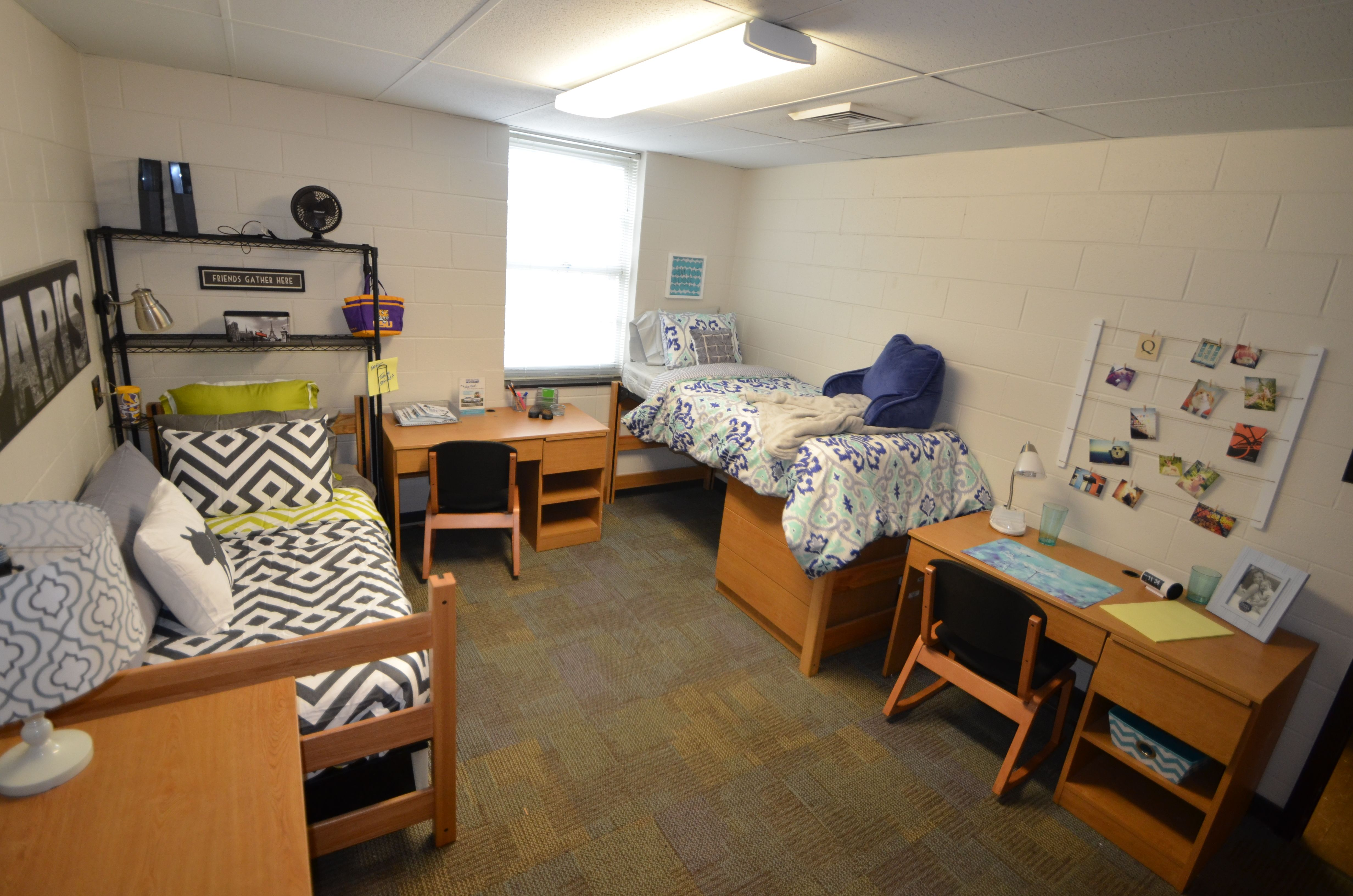 The beds in Kirby Smith Hall are adjustable in height. At ...