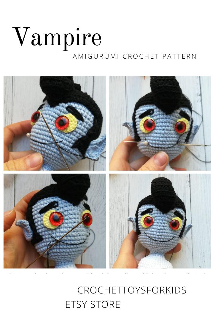 Labor day sale Crochet pattern set 2 in 1 Pampkin and Bat Amigurumi Pumpkin pattern Crochet Halloween toys pattern Amigurumi Bat pattern