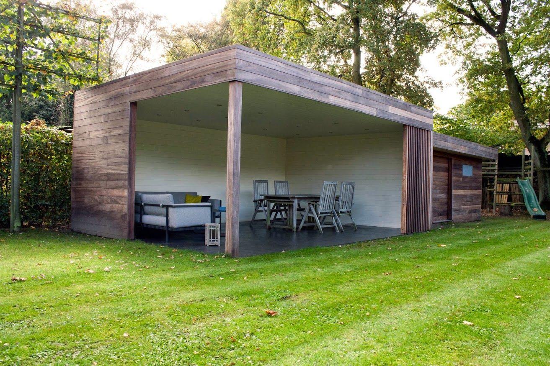 Nova concepts moderne terrasoverkapping uitgevoerd in padoek