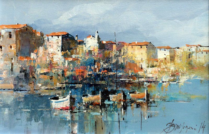 Branko Dimitrijevic, Rovinj, Oil on Canvas, 20x30cm, £260