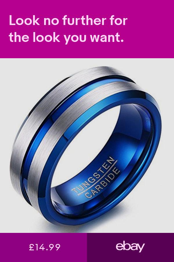 Rings Jewellery & Watches ebay Blue wedding rings