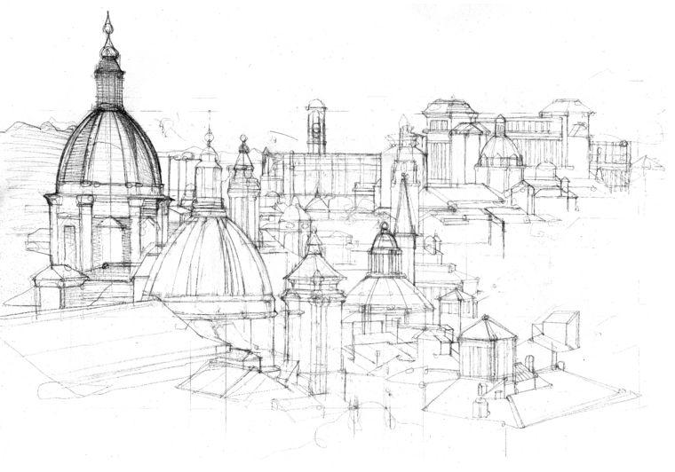 Immagini da disegnare facili paesaggio roma capitale for Paesaggi facili da disegnare
