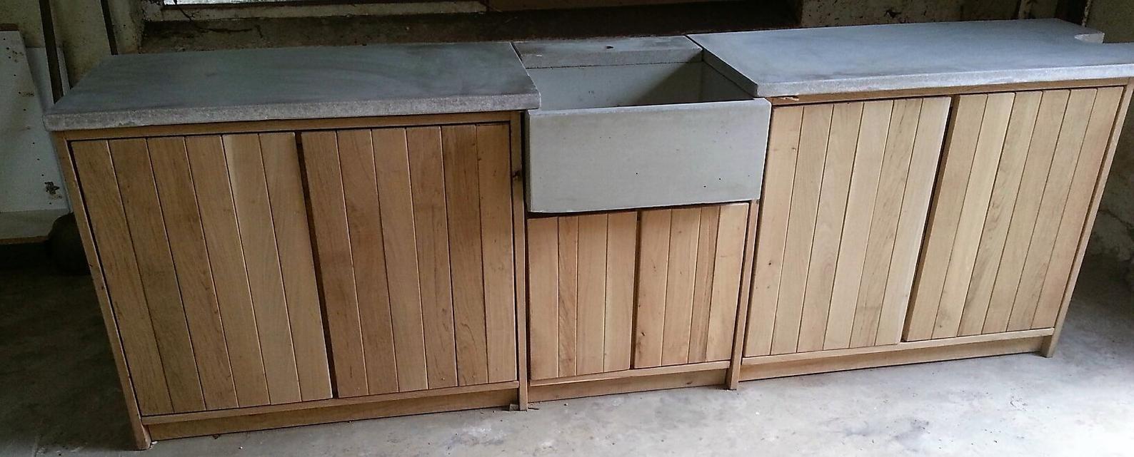 Aussenkuche Outdoor Kuche Gartenkuche Mit Betonarbeitsplatte Etsy Outdoor Kitchen Kitchen Solutions Complete Kitchens