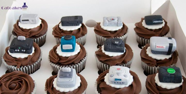 Game Console Cupcake Toppers With Images Cupcake Toppers