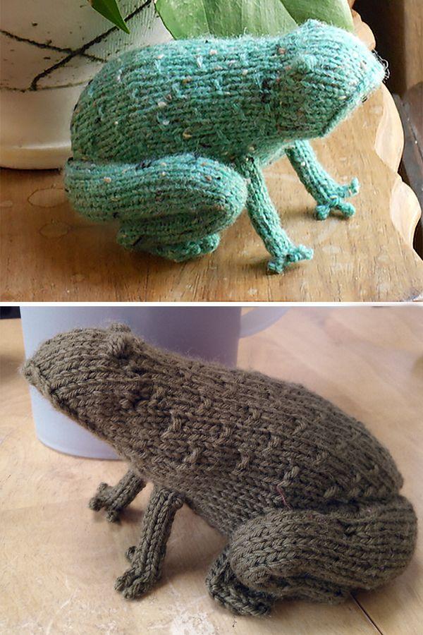 Free knitting pattern for Tweed Toad or Frog - Sara Elizabeth ...