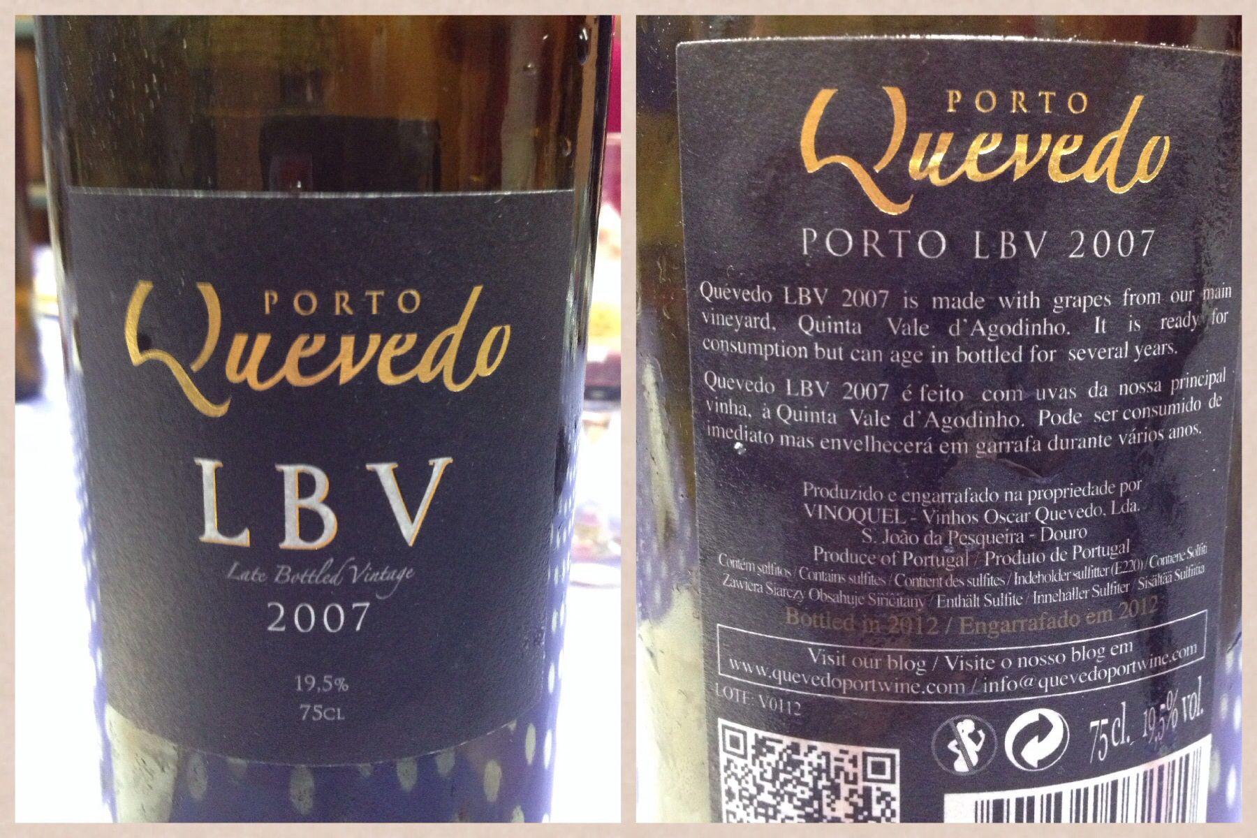 Quevedo LBV 2007, embotellado 2012. Vino de Oporto.