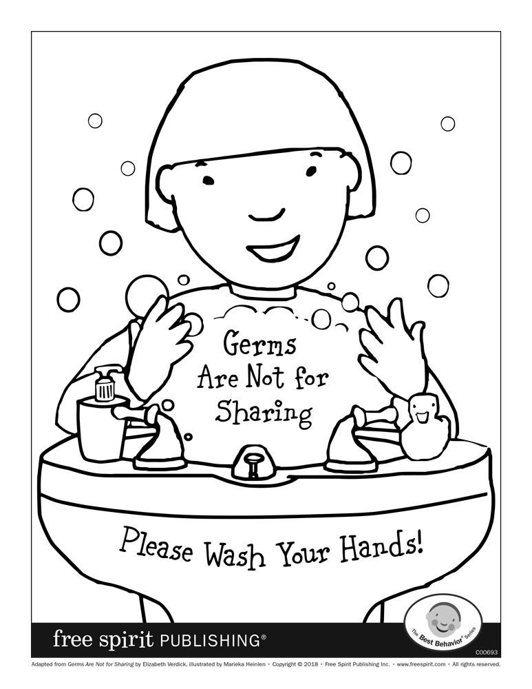 No More Spreading Germs Coloring Pages For Kids Coloring Pages