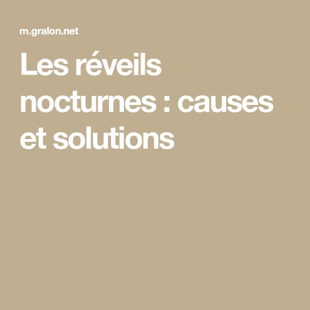 Les réveils nocturnes : causes et solutions