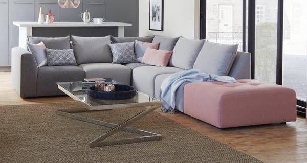 dfs metro sofa review large decorative pillows for zania left hand facing arm corner dusky blush lounge