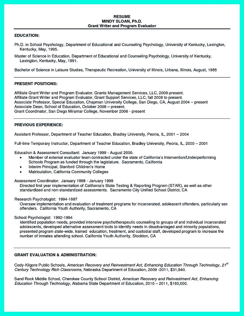 Awesome Cool Sample Of College Graduate Resume With No Experience Check More At Http Snefc Resume For Graduate School Sample Resume Format School Psychology