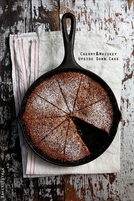 cherry and whiskey upside down cake.