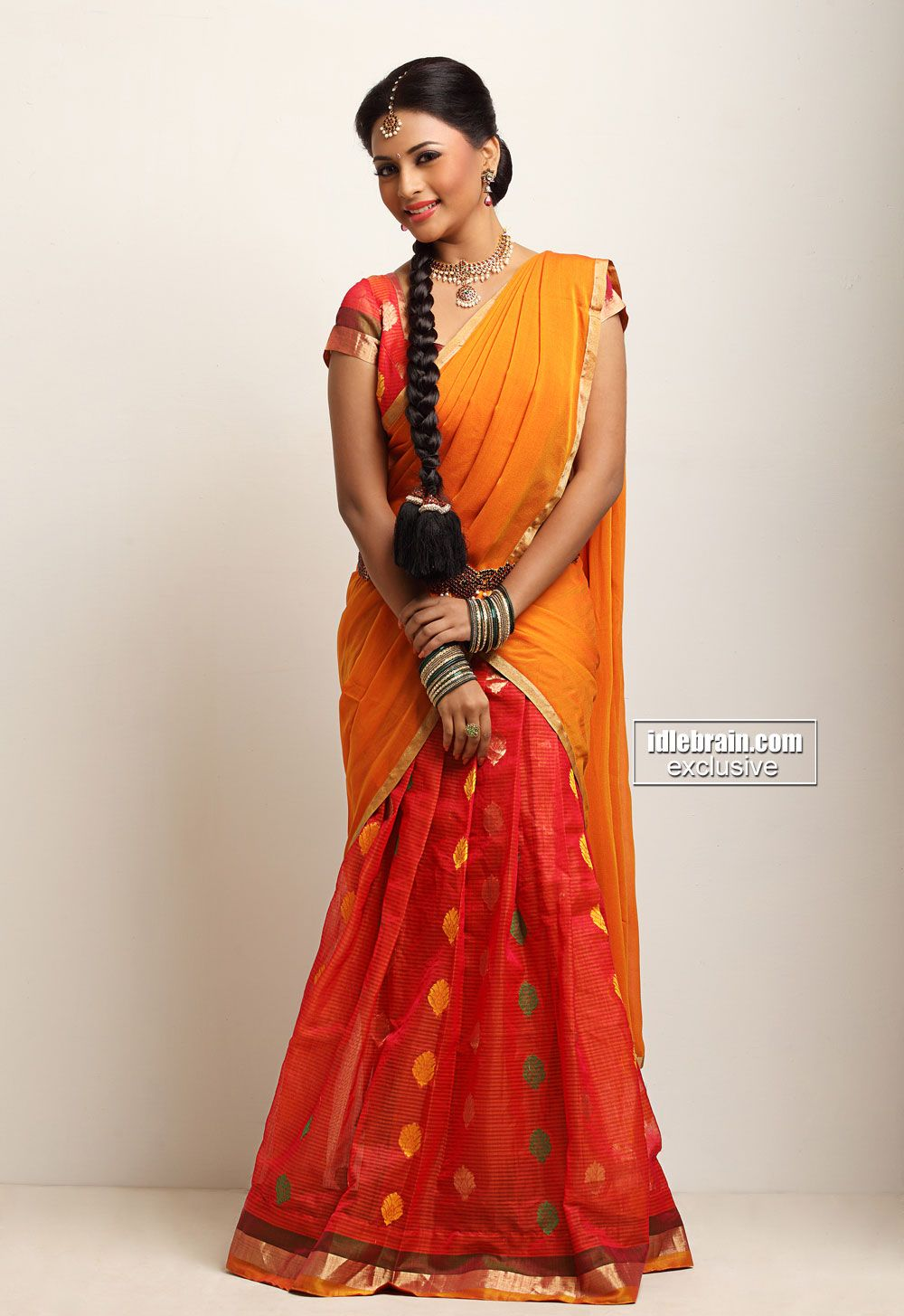 South Indian Half Saree Beauty Of Indian Wear