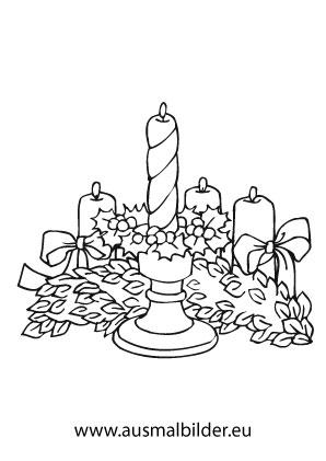 Ausmalbild Adventskerze Ausmalbilder Weihnachten Clipart Adventskerzen