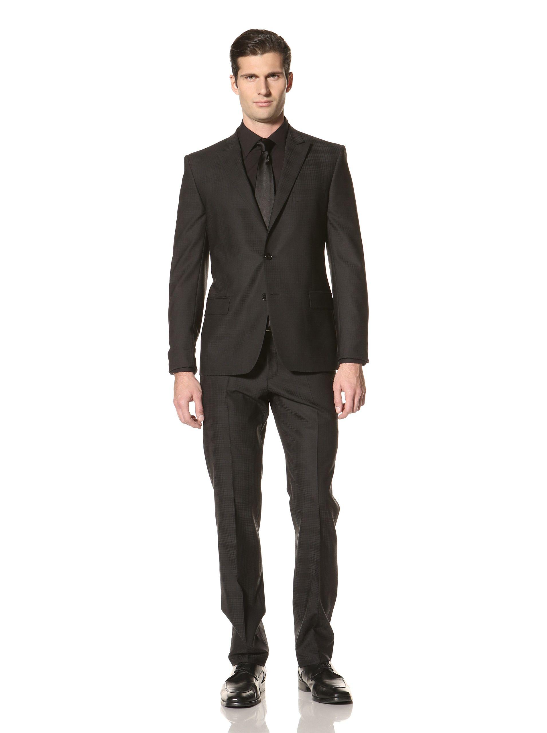 Versace Collection Men | Checked suit, Mens suits, Suits