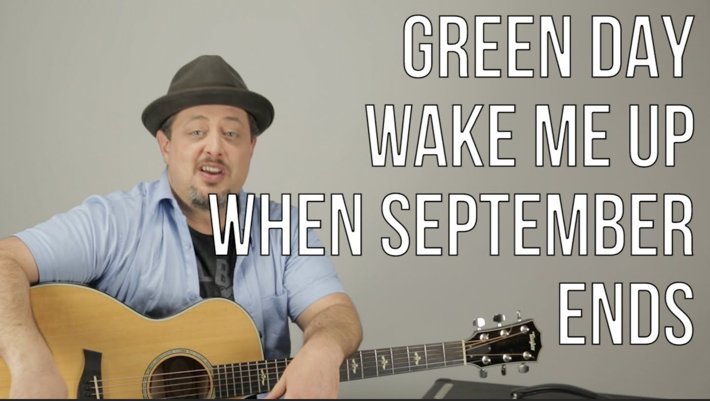 Green Day Wake Me Up When September Ends Guitar Lesson How To