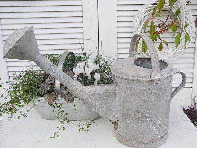 Vintage Giesskannen Watering Can Container Gardening Garden Planters
