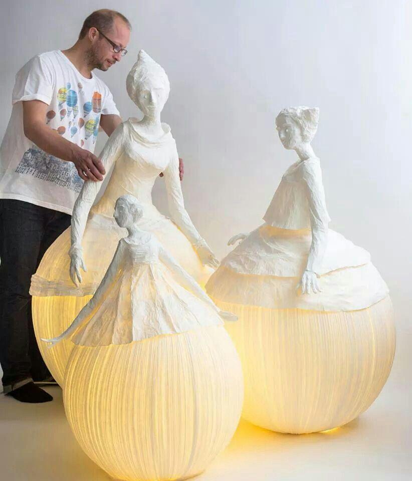 Wunderschöne Papier Lampen Skulpturen! | inspiration | Pinterest ...